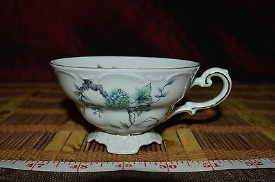 Mitterteich Bavaria Green Ming Germany Footed Cup #096