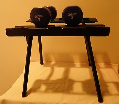Dumbbell Stand - 40x34x32 cm - Black Powder Coated Steel