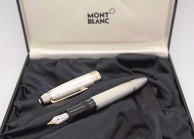 MONTBLANC Solitaire 146 Fountain Pen - Solid Silver 925 Barley - West-Germany