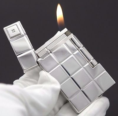 """S.T. DUPONT Lighter Ligne 2 """"Solitaire 60th Anniversary"""" Paladium with 1 Diamond"""