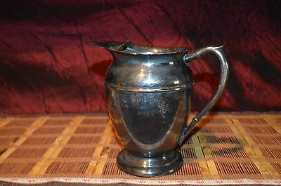 "Vintage Viking Plate E.P Copper Silverplate Water Pitcher 7 5/8""x7"""