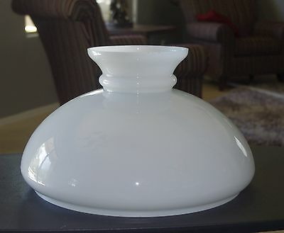 Antique/vintage Lg White Hanging Oil Or Parlor Lamp Shade