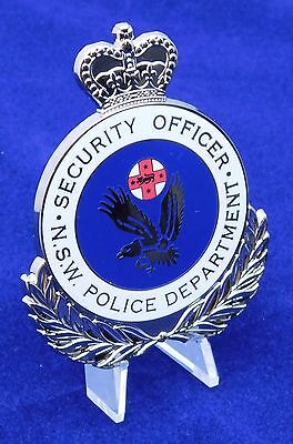 NSW Police Department Security Officer obsolete replica badge Not Fire Rescue