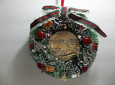 Vintage Christmas Bottle Brush WREATH 7""