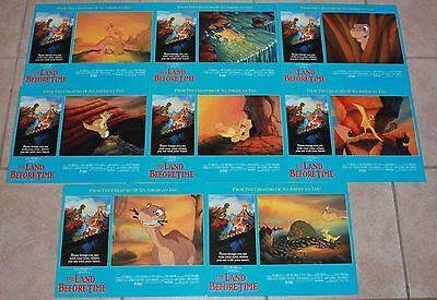 Land Before Time British lobby card set 8 Don Bluth animation