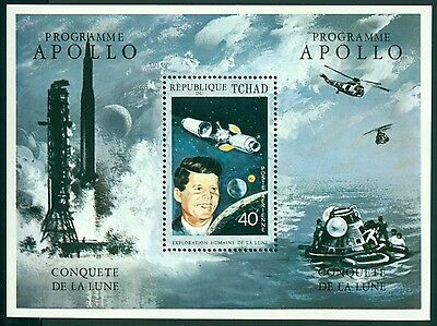 Chad Michel #410 MNH Apollo Space Program John F. Kennedy JFK $$