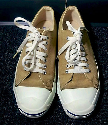 Made In Usa Vintage Converse Jack Purcell Camel Suede Size 8 Us Men