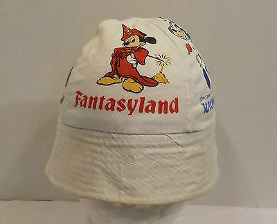 Walt Disney Productions Fantasyland Mickey Mouse Bucket Hat Cap