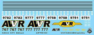 AWVR Unstoppable Movie Custom Decals 767 777 AC4400 CP N Scale