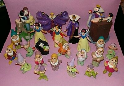 Lot of 23 Disney Classics,  Mattel and Applause Snow White PVC Figures