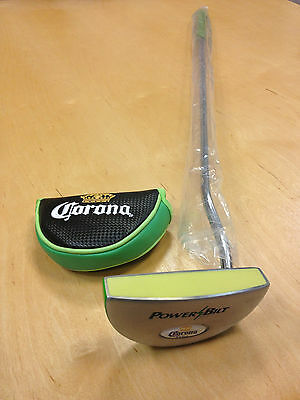 Corona Extra Powerbilt Golf Putter Lime Green with Cover Regulation Size ~ NEW
