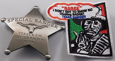 Special Ranger Texas & S.W. Cattle Raisers Assn. Replica Badge ** Made in USA