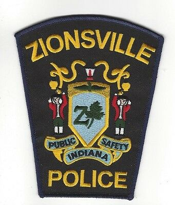 Zionsville in Boone County IN Indiana PUBLIC SAFETY POLICE Dept. patch - NEW!