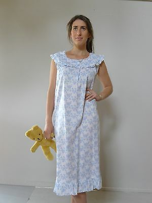 Vintage retro 60s 3XL 22 24 cotton unused nightie NOS blue plus size tags