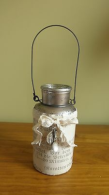 Glass Vase & Pendant Bottle French Provincial Vintage Country Shabby Chic LGE