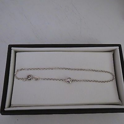 Sterling silver anklet with heart