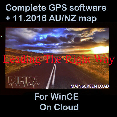 GPS SAT NAV for WinCE Software+2016 MAP AU NZ on cloud ONLY
