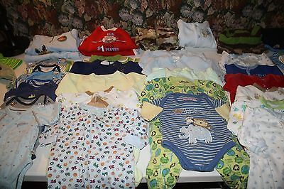 Huge Lot Baby Boys Clothes Newborn 0-3 Months Outfits Winter 45 PC
