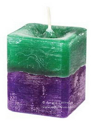 STRESS RELIEF SQUARE VOTIVE CANDLE Wicca Witch Pagan Spells