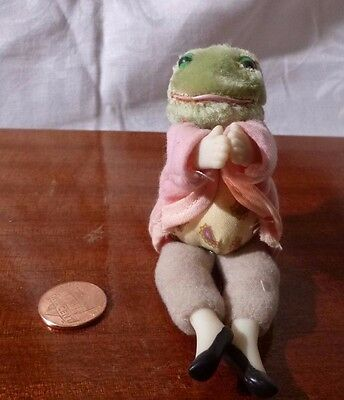 FROG 1985 Eden Toys Beatrix Potter Jeremy Fisher Frederick Warne Clip On Doll