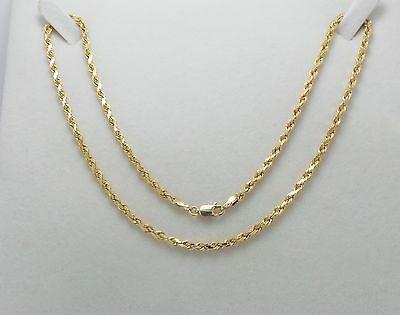 9ct YELLOW GOLD TWIST CHAIN NECKLACE - 6.7 GRAMS -  41CM