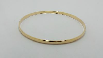9Ct Yellow Gold Patterned Bangle 6.5Cm