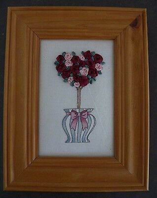 Brand New GORGEOUS FRAMED RIBBON EMBROIDERED PICTURE~ARTWORK