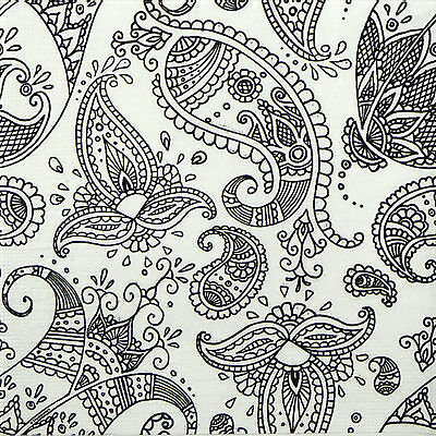 4x Paper Napkins for Decoupage Decopatch Craft Vintage Paisley