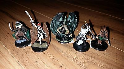Dungeons and Dragons D&D Miniatures Lot Eilistraee,Drizzt,Human Wanderer, plus