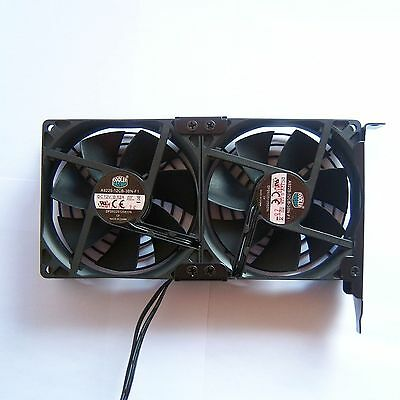 Cooler Master 90mm Double Cooling Fan PC PCI GPU Video Card 12V 3 Pin Quiet F38