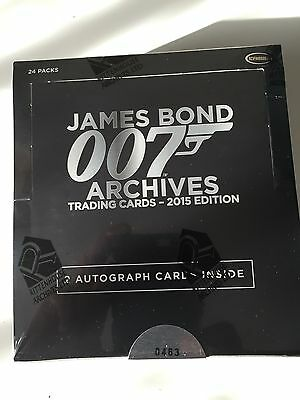 James Bond Archives 2015 Sealed Box Rittenhouse Autograph Autos Rare