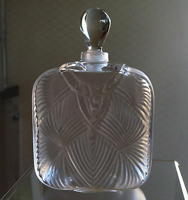 LALIQUE Crystal (France) - Hittite Perfume Bottle - NIB