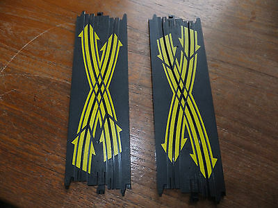 2nd PAIR Tyco crossover tracks, no.5841 excellent!! Mattel 9'' lane changer