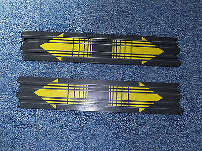 AFX-Tomy 2x15'' YELLOW-MARKED straight Aurora spares track, more HO STRAIGHT