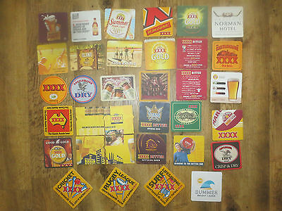 34 different CASTLEMAINE XXXX BREWERY, BEER collectable COASTERS,