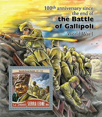 SIERRA LEONE 2016 ** WWI Battle of Gallipoli Schlacht bei Gallipoli S/S #715b