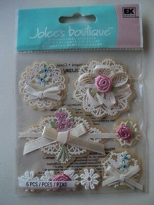 Ek Success Jolee's Boutique Layered Doilies With Bows Dimensional Stickers Bnip