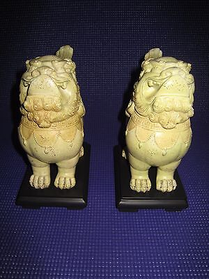 Vintage Chinese Foo Dogs Set Of 2