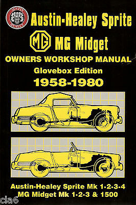 Austin-Healey Sprite & MG Midget Owners Glovebox Workshop Manual 1958-80 *NEW