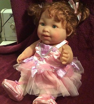 """Berenguer 16"""" Toddler Doll Lots to Love Ballerina Doll 30-07 RED hair GREEN eyes"""