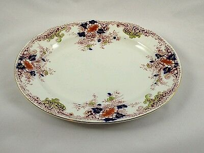 """Vintage Burgess and Leigh Mulberry """"Athol"""" 12 inch Platter 1906-1912"""