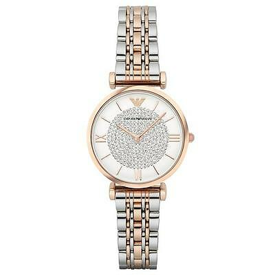 Look glamorous with the stylish Emporio Armani AR1926 Gianni T-bar timepiece