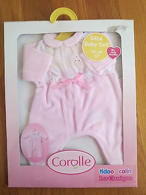 Corolle Baby Doll pink pyjamas for 12 in baby doll NIB