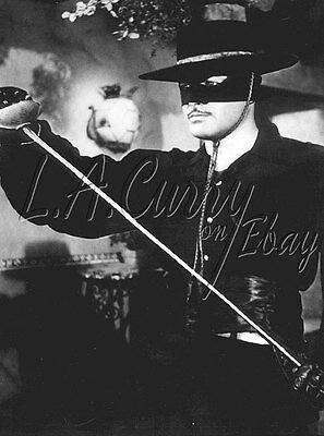 Guy Williams Zorro The Fox Masked Tv Action Hero Holding Sword  Photograph