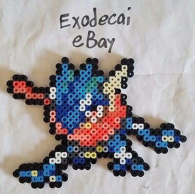 Greninja Pokemon Bead Sprite Perler Art Menu Icon