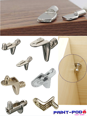 10 X Shelf Supports Holder Pegs Pin Plug Stud In 5,6mm Kitchen Cupboard Cabinet