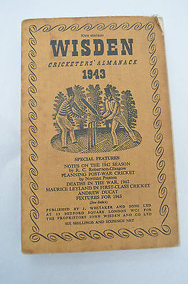 WISDEN Cricketers' Almanack 1943 (Softback) 80th Edition