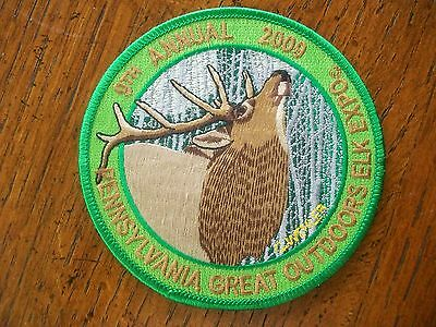 Pennsylvania Pa Game Hunting Patch 2009 9Th Annual Great Outdoor Elk Expo