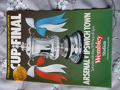 F.A.  Cup final Arsenal v Ipswich town  may 1978  good condition