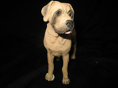 Bullmastiff  standing dog figure model by Castagna hand made in Italy new